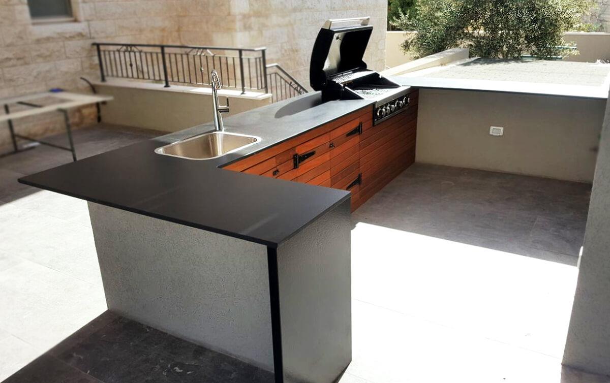 עיצוב חוץ - מטבח לגינה פרטית