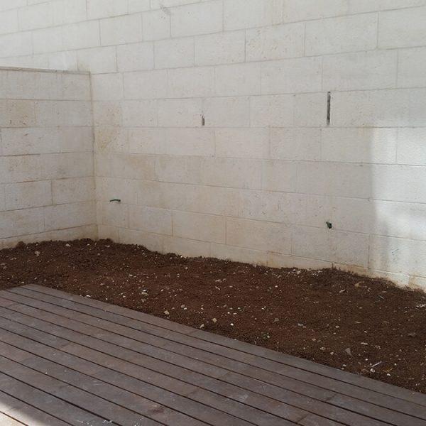 עיצוב גינה בדירת קרקע - המצב לפני